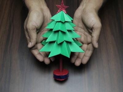 3D Paper Christmas Tree   How to Make a 3D Paper Xmas Tree DIY Tutorial
