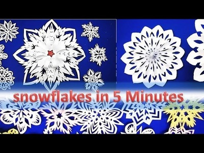 3D Snowflake - Paper snowflake - How to Make 3D Paper Snowflakes for Christmas decorations 7y