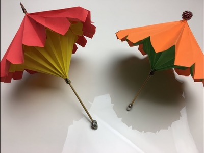AÇILIP KAPANAN ŞEMSİYE | How to Make Origami Umbrella That Open And Closes