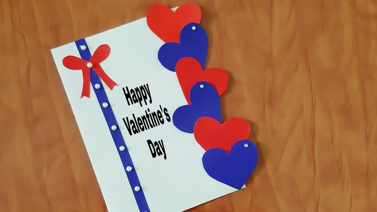 Beautiful Handmade Valentine's Day card idea | DIY Greeting Cards for Valentine's day card.