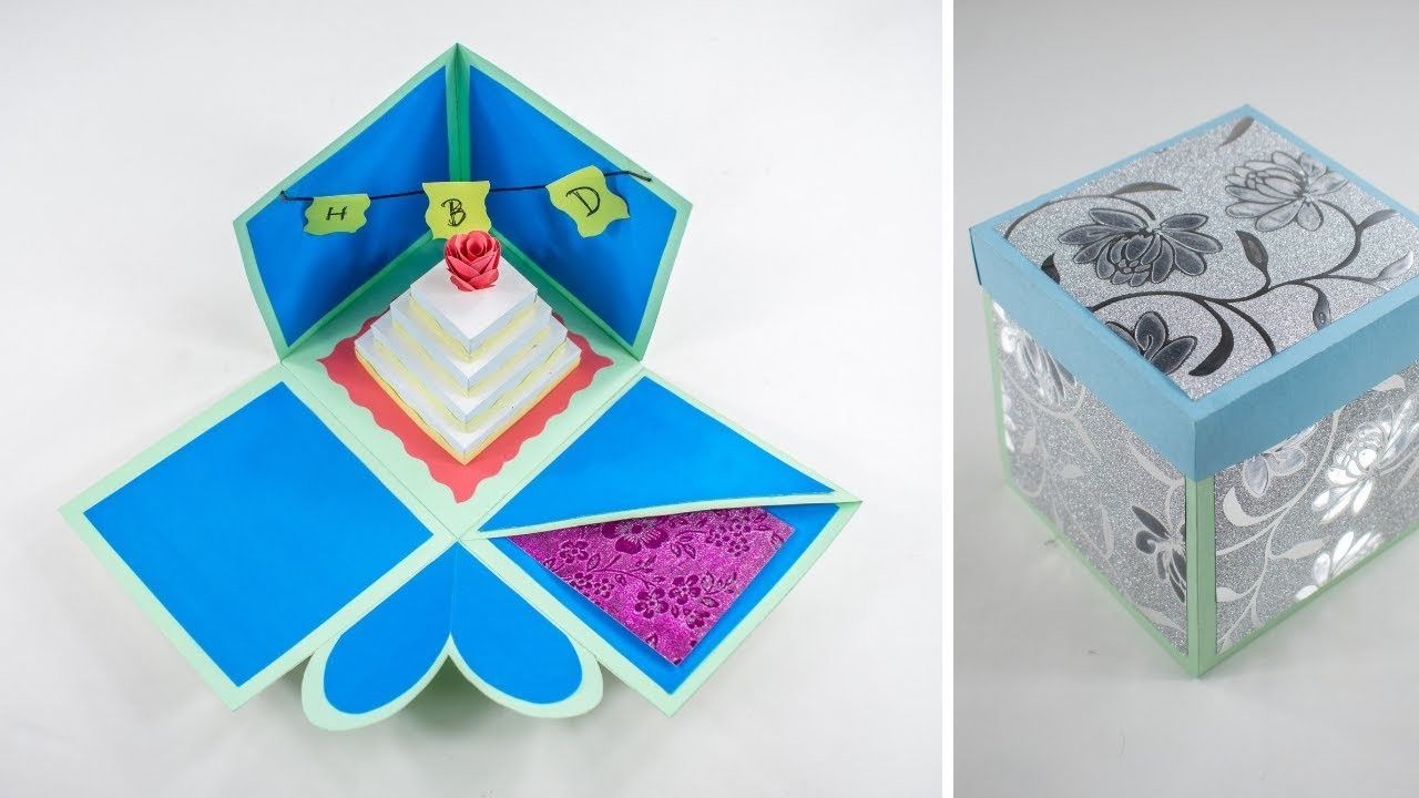 Birthday Gift Ideas   How to Make Birthday Explosion Box - Explosion Box - DIY