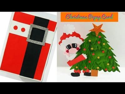 Christmas Pop up Card| Handmade Santa Pop Up Card| How to make Santa Christmas card|Santa Suit Card