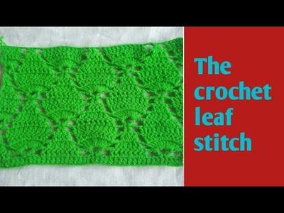 Crochet leaf stitch in Hindi.