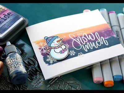 DIY Custom Blend Distress Oxide Ink Pad (January 2019 Card Kit from Simon Says Stamp)