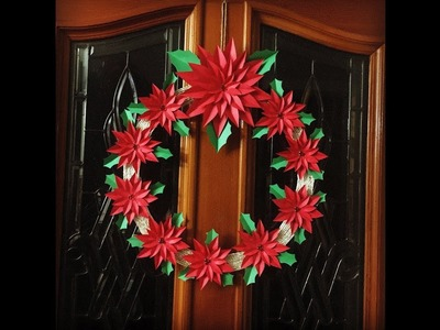 DIY: How to make a paper flower christmas wreath