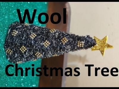 DIY How to Make Wool Christmas Tree, Woolen Christmas Tree, Christmas Gift