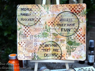 How to create an Art Journal with stencils and stamps