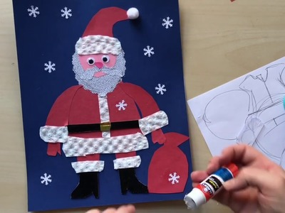 How to create Santa Claus with colored paper