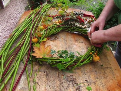 How to Decorate a Willow Wreath for Samhain