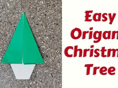 How to Fold an Easy Origami Christmas Tree