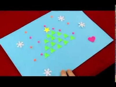 How to Make a Christmas Card with the Paper Punches? Christmas Greeting Cards Making Ideas