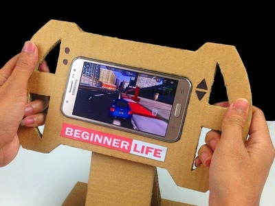 How To Make a Gaming Steering Wheel From Cardboard For Smartphone DIY