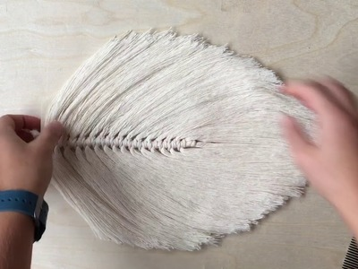 How To Make A Large Macrame Feather.Leaf Part 2 of 2