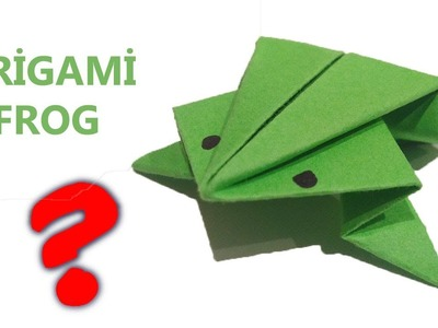 How To Make a Origami Frog - Paper Jumping Frog (Easy)