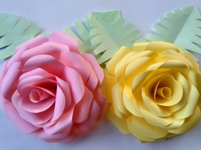 How to make a paper flowers - very simple rose flowers and paper crafts