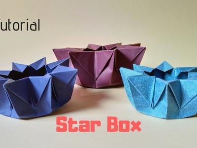 How To Make a  Paper Star Box Tutorial | Origami Star Box | InnoVatioNizer