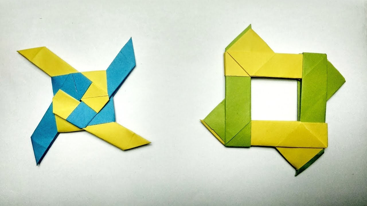 How To Make a Paper Transforming Ninja Star - Origami ... - photo#20
