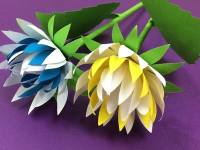 How to Make Beautiful Flower with Paper - Making Paper Flowers Step by Step - DIY Paper Flowers #17