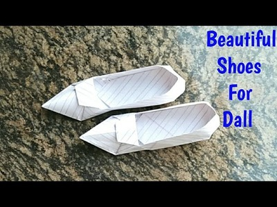 How To Make Beautiful Paper Shoes. Paper Shoes For Dall