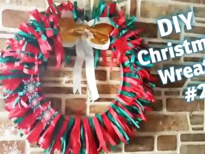 How to make Christmas Wreath out of Paper & ring, DIY Holiday Craft # 2