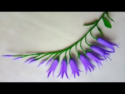 How to make crepe paper flowers #Bellflowers | Diy crepe paper flowers | Easy Papercraft
