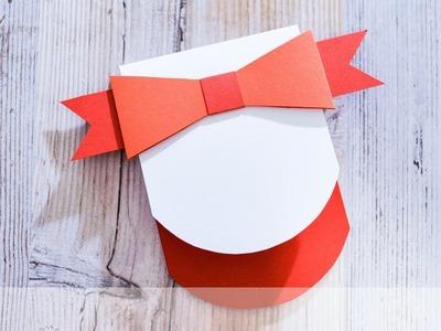 How to make : Greeting Card with a Paper Bow   Kartka z Kokardą - Advent Calendar 2018 #24