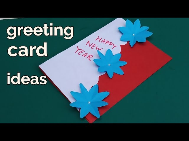 How to make Happy New year greeting cards | greeting card making ideas Handmade
