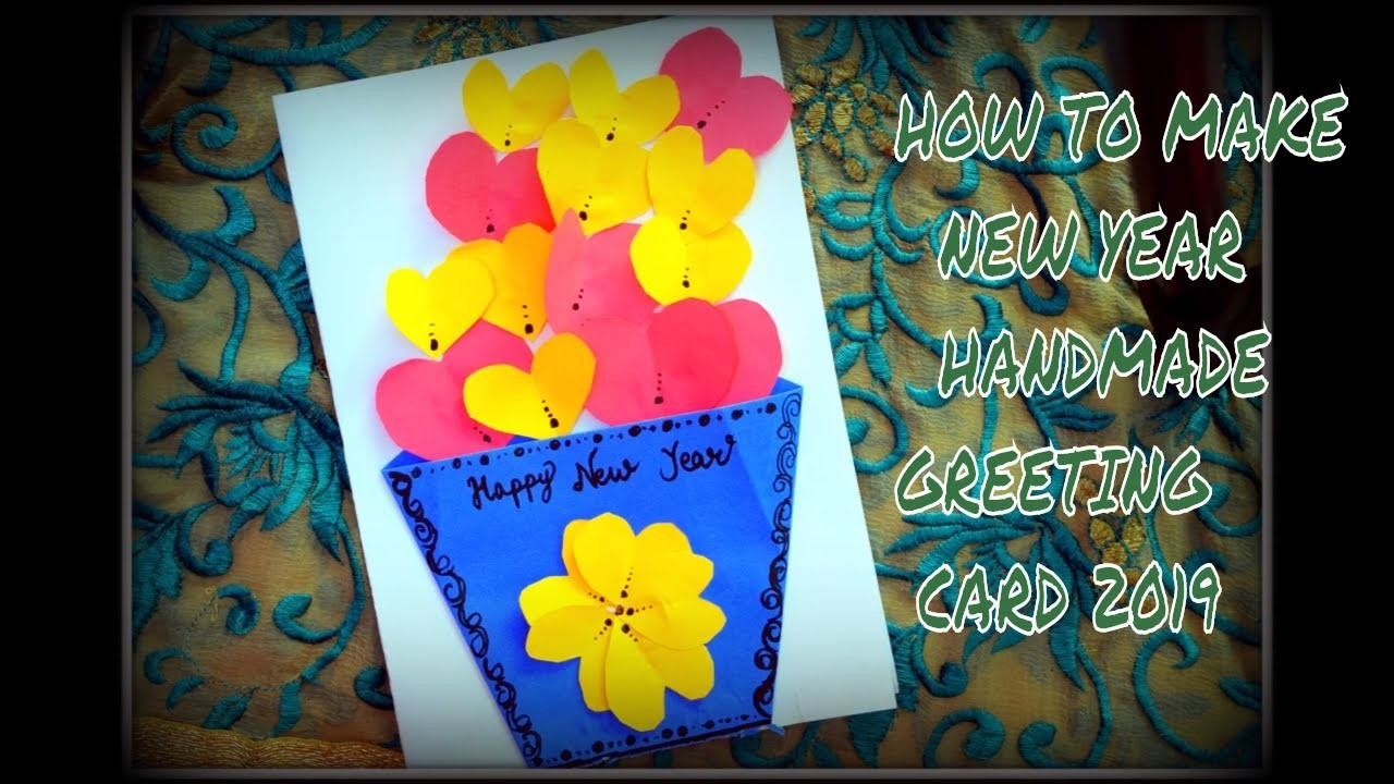How To Make New Year Card Handmade New Year Card 2019 New ...
