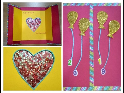 How to make new year card. Handmade New Year Card Idea. Best use of wedding cards
