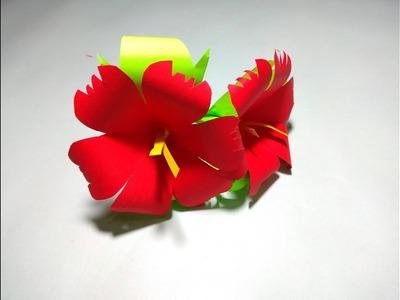 How to Make Paper Flower | Handcraft Flowers | DIY-Paper flowers | tech gear