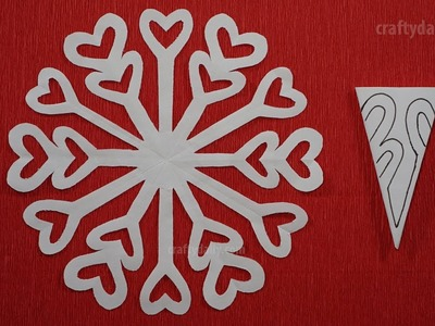 How to make paper snowflakes - Paper Snowflakes #06