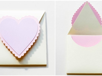 How to make : Simple Envelope with Hearts for Valentine's Day | Koperta - Mishellka #317 DIY