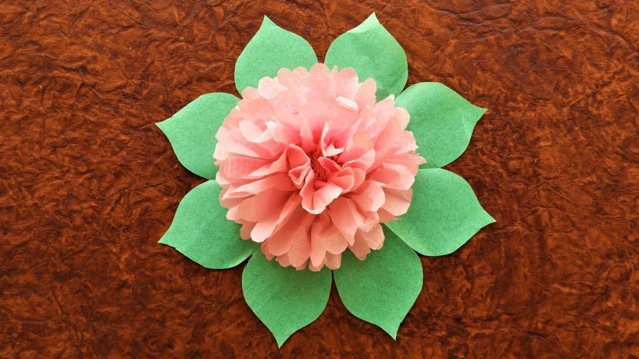 How To Make Tissue Paper Flower Diy Tissue Paper Flower Easy Home