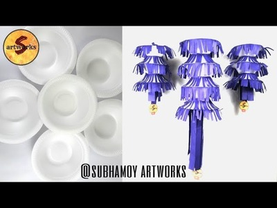 How to make wall hanging using thermocol bowls.DIY at home.easy step by step crafts by S artworks