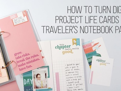 How to turn digital cards into Traveler's Notebook sized papers + create kiss-cut stickers!