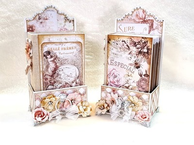 Lavender Frost Tiny Mini Album in a Tag Box ( DT CCC )