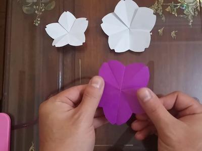 Origami easy cherry blossom - how to make a paper easy cherry blossom