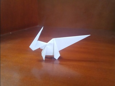 Origami easy dinosaur parasaurolophus - How to make easy dinosaur parasaurolophus