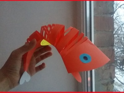 Origami Moving Fish - How to Make Paper Toys - Paper Animals - easy Origami for kids