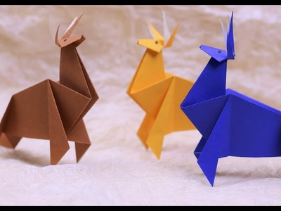 Paper Folding Art (Origami): How to Make Deer