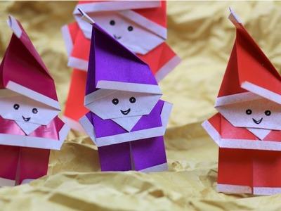 Paper Folding Art (Origami): How to Make Santa Claus