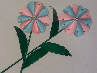 Stick flower : How to make stick flower with paper. Beautiful origami flower step by step.