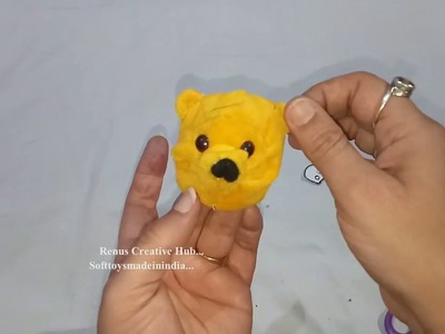 Winnie the Pooh Key Chain. .  DIY How to make Winni Pooh key chain at home