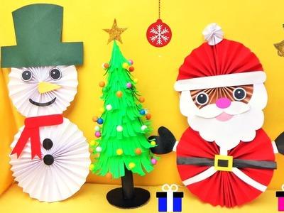 3 Amazing Last Minute Christmas Paper Crafts. DIY Christmas Room Decor ideas