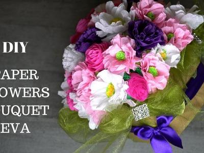 401 Paper Flowers Arrangement. Bouquet Eva. Diy Box Flowers