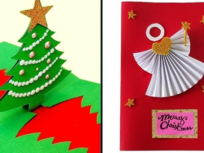 7 Christmas Greeting Cards - Handmade Christmas Greeting Cards || Paper Girl