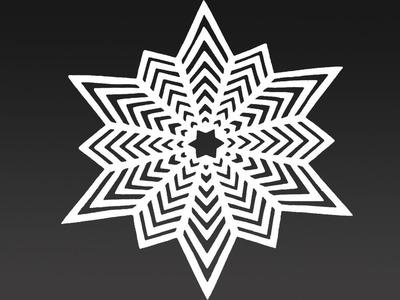 Amazing Paper snowflake DIY - Snowflakes in 8 minute