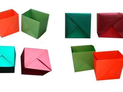 Art And Crafts With Paper | DIY Paper Gift Boxes Organizer | Kagojer Hater Kaj