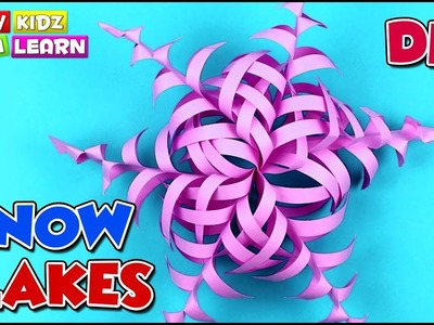 Christmas Crafts for kids | Snowflakes DIY | Paper Snowflakes for Christmas decorations | Wow Kidz