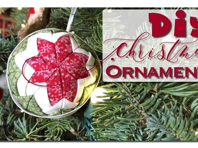 DIY Christmas Ornaments - Quilted No-Sew Fabric Ball Ornaments